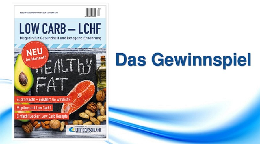 low carb lchf magazin das gewinnspiel lchf deutschland. Black Bedroom Furniture Sets. Home Design Ideas