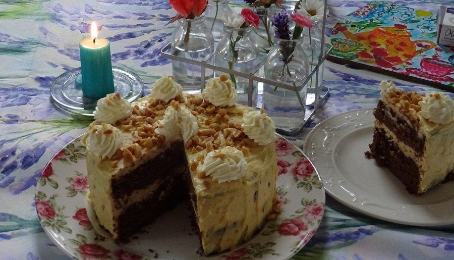 Schoko-Erdnussbutter-Torte