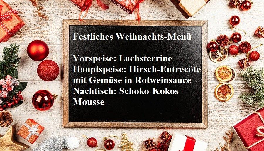 Weihnachts-Menü