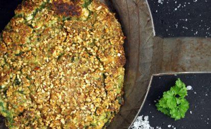 Spinat-Hüttenkäse-Pfannkuchen