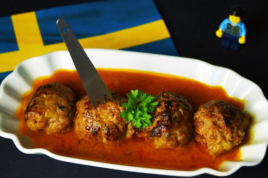 Köttbullar in Curry-Kokossauc