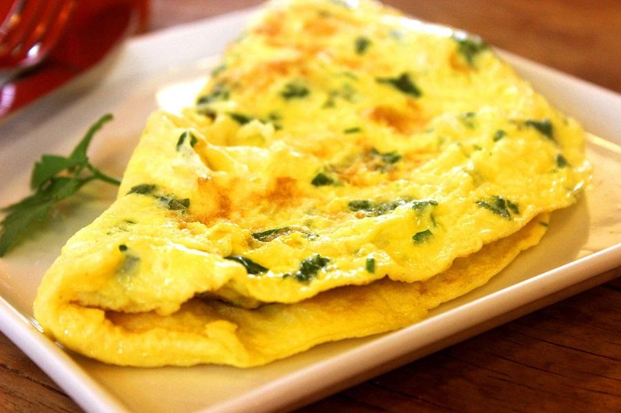 Klassisches-Omelette
