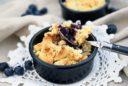 Crumble Pie mit Blaubeeren