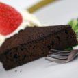Dunkler Schokoladenkuchen