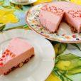 No-bake Erdbeer-Quark-Käsekuchen