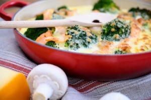 Brokkoli-Lachs-Auflauf