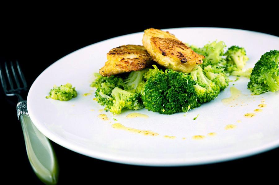 Hähnchenschnitzel mit Brokkoli