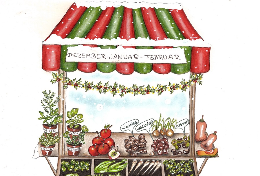 Marktstand Winter