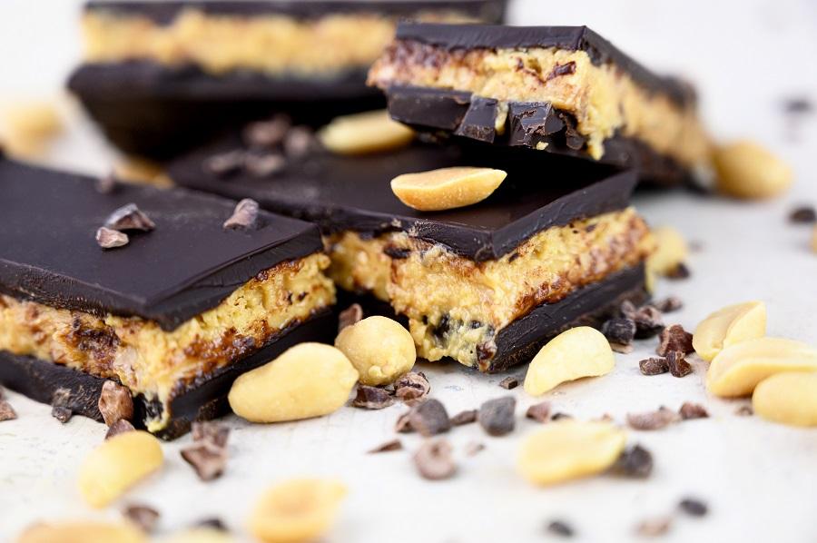 Erdnuss-Schokoladen-Riegel