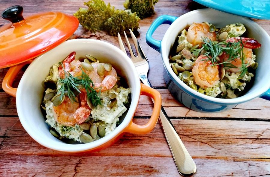 Brokkolisalat-mit-Garnelen