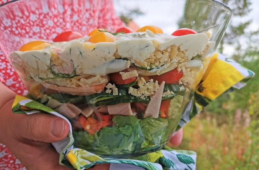 Schwedischer Schichtsalat (2)
