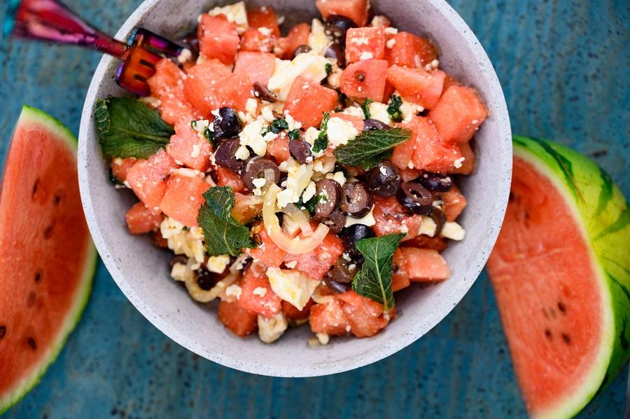 Sommerlicher Melonensalat
