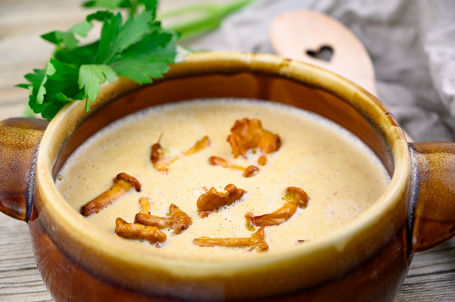 Pfifferling Cremesuppe