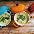 Kohlrabi-Ingwer-Suppe mit Krabben