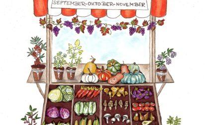 Marktstand Herbst